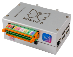 Monarco HAT in DIN rail enclosure